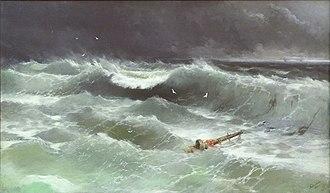 1886 in art - Image: Aivasovsky Ivan Constantinovich storm 1886 IBI