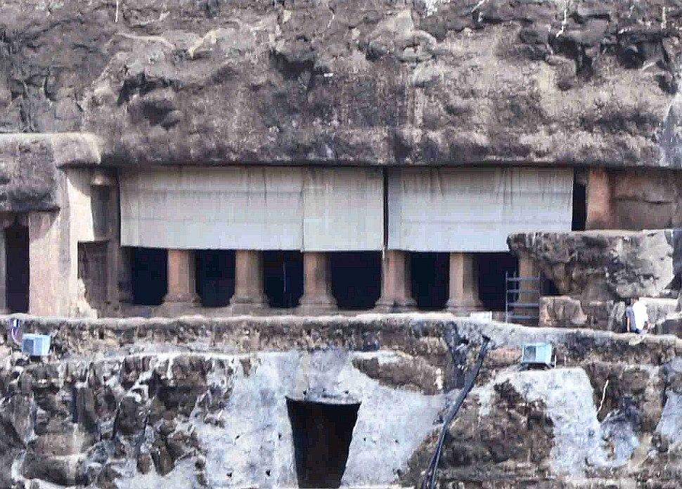 Ajanta Cave 17 outside view