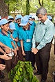 Ajoy Kumar Ray with Students Plant Mahogany - Inaugural Session - Summer Camp - Nisana Foundation - Sibpur BE College Model High School - Howrah 2013-06-07 8731.JPG