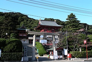 Shinto shrine in Yamaguchi Prefecture, Japan