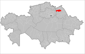 Aktogay District, Pavlodar Region - Image: Aktogay Pavlodar District Kazakhstan