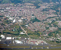 Alajuela seen from the air