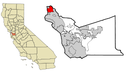 Alameda County California Incorporated and Unincorporated areas Berkeley Highlighted.svg