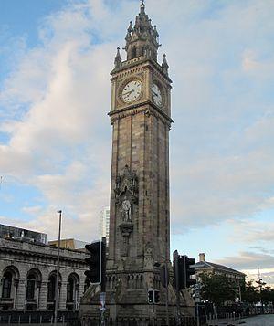 Albert Memorial Clock, Belfast - Albert Memorial Clock, Queens Square, Belfast, 2011