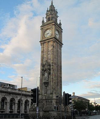 Albert Memorial Clock, Belfast - Albert Memorial Clock, Queens Square, Belfast, 2011