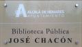Alcalá de Henares (RPS 15-09-2017) Biblioteca pública municipal José Chacón, cartel.png