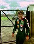 Alessandro Zanardi in the paddock before the 1993 British Grand Prix (32844048884).jpg