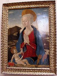 Alesso baldovinetti, madonna col bambino, 1464 ca. 01.JPG