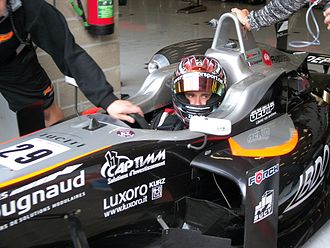 Alexandre Cougnaud - Cougnaud at Spa getting out of the box for Q2 session (F3).