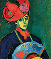 Alexej Jawlensky - Schokko with Red Hat (1909) 02.jpg