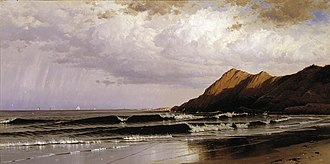 Alfred Thompson Bricher - Time and Tide, 1873, Dallas Museum of Art