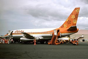 Aloha Airlines - Aloha Boeing 737-200 at Honolulu in May 1981