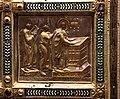 Altare di s. ambrogio, 824-859 ca., retro di vuolvino, storie di sant'ambrogio 05 ambrogio portato a tours mentre dorme sull'altare.jpg
