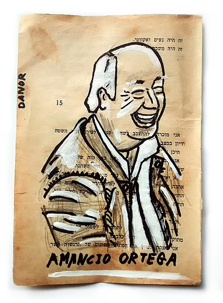 File:Amancio Ortega Portrait Painting Collage By Danor Shtruzman ...