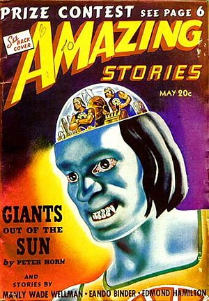 "David Vern Reed - Reed's novelette ""Giants Out of the Sun"", published under his ""Peter Horn"" pseudonym, was the cover story for the May 1940 issue of Amazing Stories"