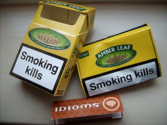 Amber Leaf - Image: Amber Leaft 10g with free Rolling Papers