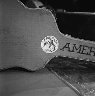 America (band) - Band member's guitar case in December 1972, from set of AVRO's TopPop.