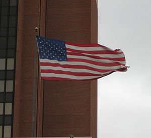 American Flag waving