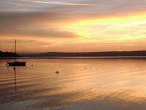 The Ammersee in Herrsching
