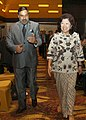 Anand Sharma and the Trade Minister of Indonesia, Dr. Mari Elka Pangestu walking together to the venue of the ASEAN Economic Ministers (AEM)-India Consultations-9, at Manado, Indonesia on August 13, 2011.jpg
