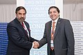 Anand Sharma meeting the Pakistani Minister of State and Chairman of the Board of Investment, Mr. Saleem Mandviwalla, on the sideline of St. Petersburg International Economic Forum, at St. Petersburg, Russia on June 19, 2011.jpg