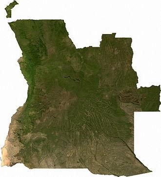 Geography of Angola - Image: Angola sat