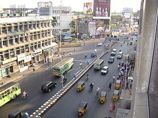 Anna Salai arterial road in Chennai, India