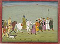 Anonymous - Illustration from a Bhagavata Purana Series, Book 10, Krishna Leads the Townspeople - 2001.138.31 - Yale University Art Gallery.jpg