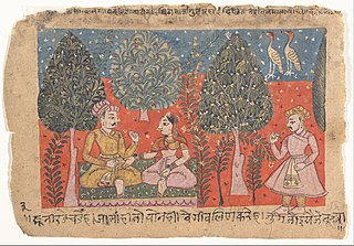 Page from a Dispersed Rasikapriya (Lover's Breviary)