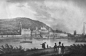 Pillnitz Castle - The castle circa 1850