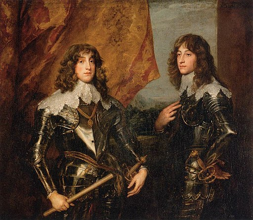 Anthony van Dyck - Portrait of the Princes Palatine Charles-Louis I and his Brother Robert - WGA07422