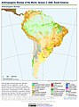 Anthropogenic Biomes of the World, Version 2, 2000 South America (13604310194).jpg