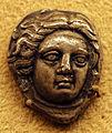 Antica grecia, monete varie a tema mitologico, testa femminile.JPG