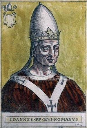 Antipope John XVI - Antipope John XVI (997–998)