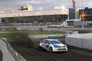 2014 World RX of Canada - Anton Marklund leads Andreas Bakkerud, Reinis Nitišs, Patrick Carpentier and Sverre Isachsen