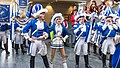 Appell Kölner Funken Artillerie blau weiß von 1870 im Kölner Rathaus - Weiberfastnacht 2019-5743.jpg