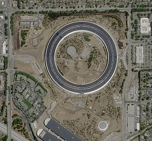 Apple Park - Apple Park satellite view during construction in May 2017.