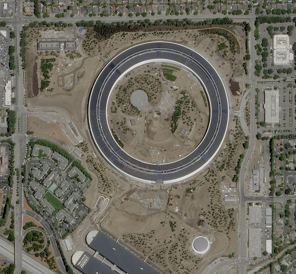 Apple Park satellite view May 2017
