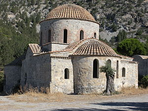 Panagia Apsinthiotissa - Church at the monastery of Panagia Apsinthiotissa from the east in 2009.
