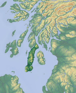 Kintyre peninsula in Argyll and Bute, Scotland