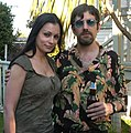 Aria Giovanni, Justin Levine at Luke Ford's 40th birthday party 2.jpg