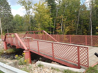 National Register of Historic Places listings in Forest County, Wisconsin - Image: Armstrong Creek Bridge over Old County Road 101 South of Armstrong Creek, WI