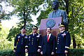 Army Europe leaders, Ambassador Mull at Reagan Statue in Warsaw (20436724559).jpg