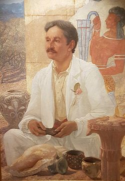 Arthur Evans portrait (frameless), 1907, by William Richmond, Ashmolean Museum, Oxford.jpg