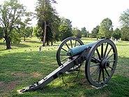 Artillery Marking Longstreet's Line in Fredericksburg National Cemetery