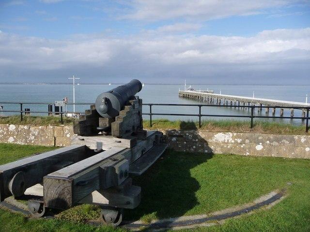 Artillery gun at Yarmouth Castle