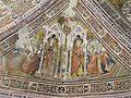 Assisi, santa chiara, interno, maestro espressionista di santa Chiara, volta con sante cecilia e lucia.JPG