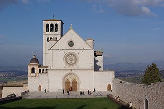 Italian Gothic architecture - Basilica di San Francesco, Assisi