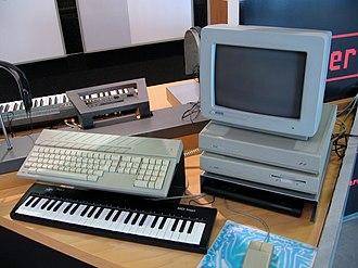 Music sequencer - 1980s typical software sequencer platform, using Atari Mega ST computer.