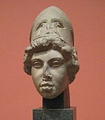 Athena's head from Athena and Marsyas group (plaster cast in Pushkin museum after Dresden original) 01 by shakko.jpg